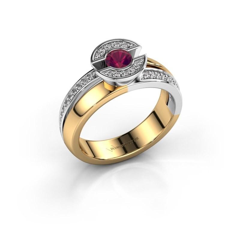 Ring Jeanet 2 585 goud rhodoliet 4 mm