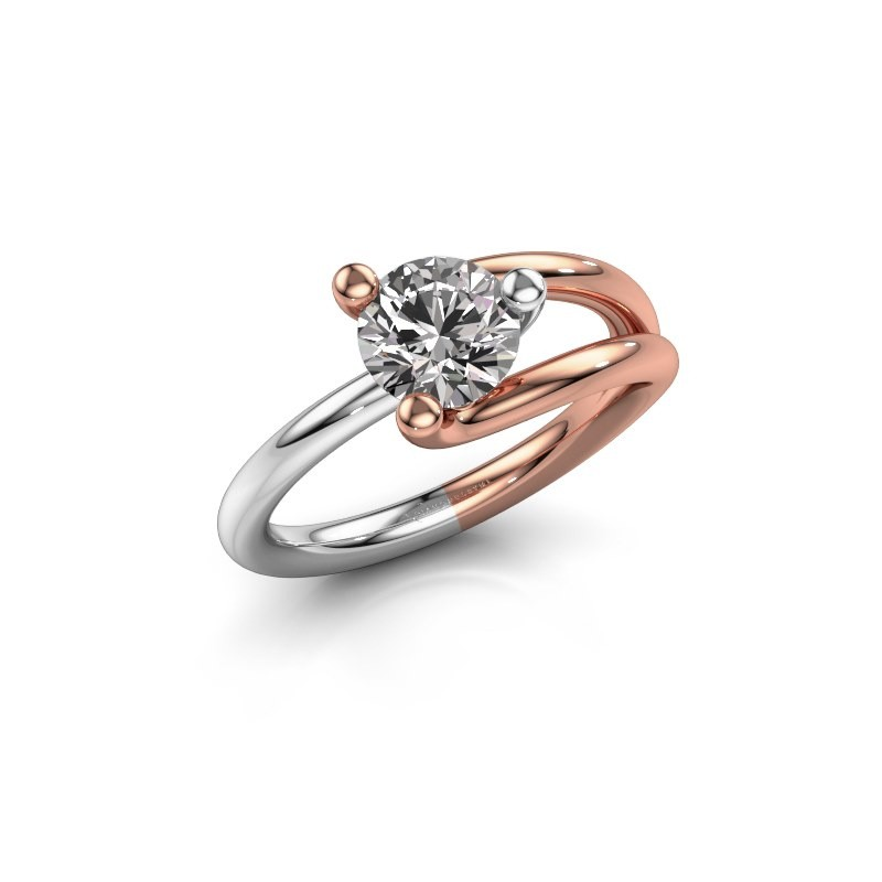 Engagement ring Roosmarijn 585 rose gold diamond 1.00 crt