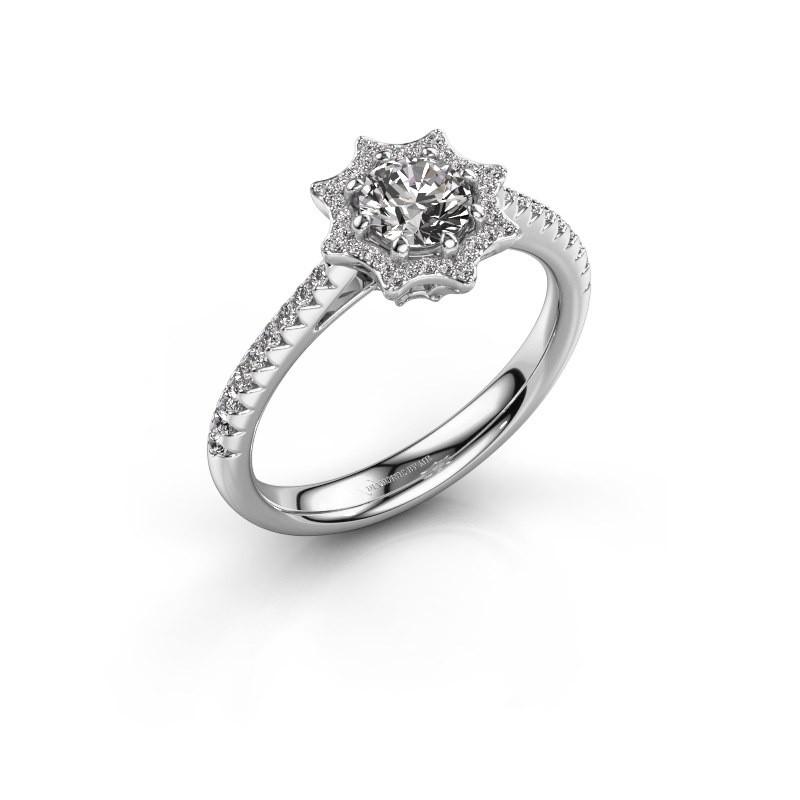 Aanzoeksring Zena 925 zilver diamant 0.730 crt