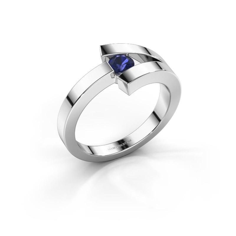 Ring Sofia 585 white gold sapphire 3.7 mm