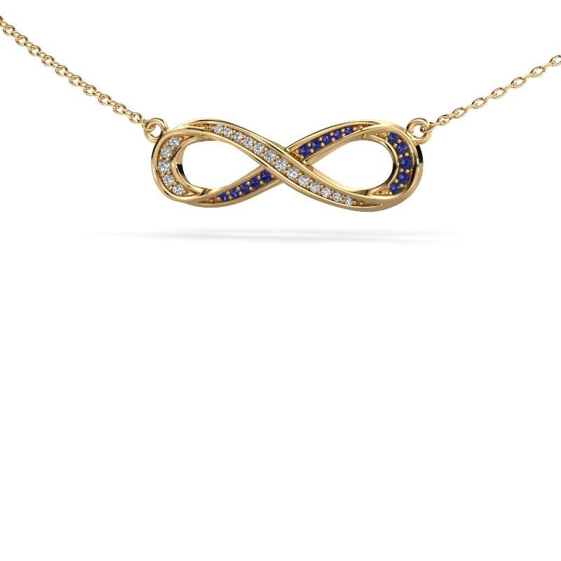 Collier Infinity 2 585 goud saffier 0.8 mm