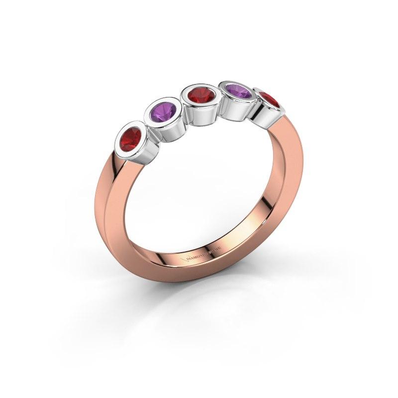 Ring Nova 585 rose gold ruby 3 mm