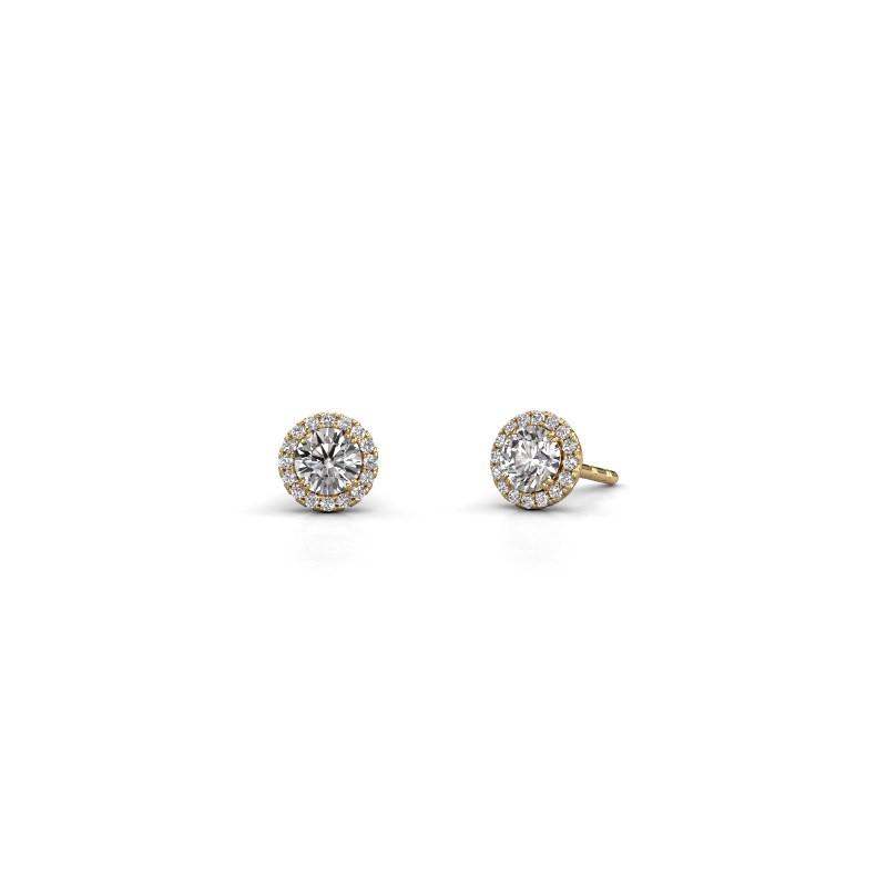Earrings Seline rnd 375 gold diamond 0.74 crt