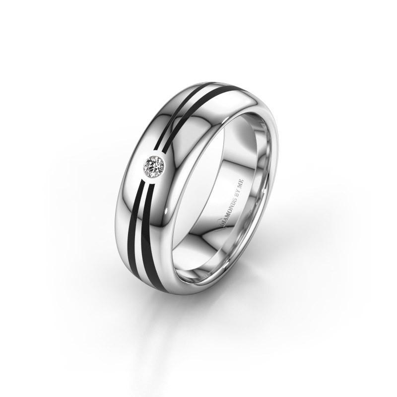 Wedding ring WH2226L36BP 375 white gold ±6x2 mm
