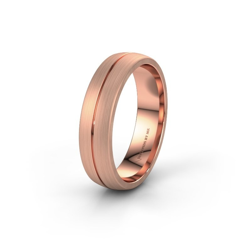 Wedding ring WH0162M25A 375 rose gold ±0.22x0.07 in