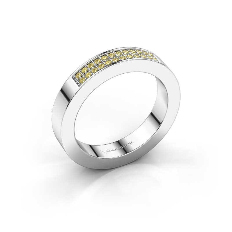 Stackable ring Catharina 1 950 platinum yellow sapphire 1.1 mm