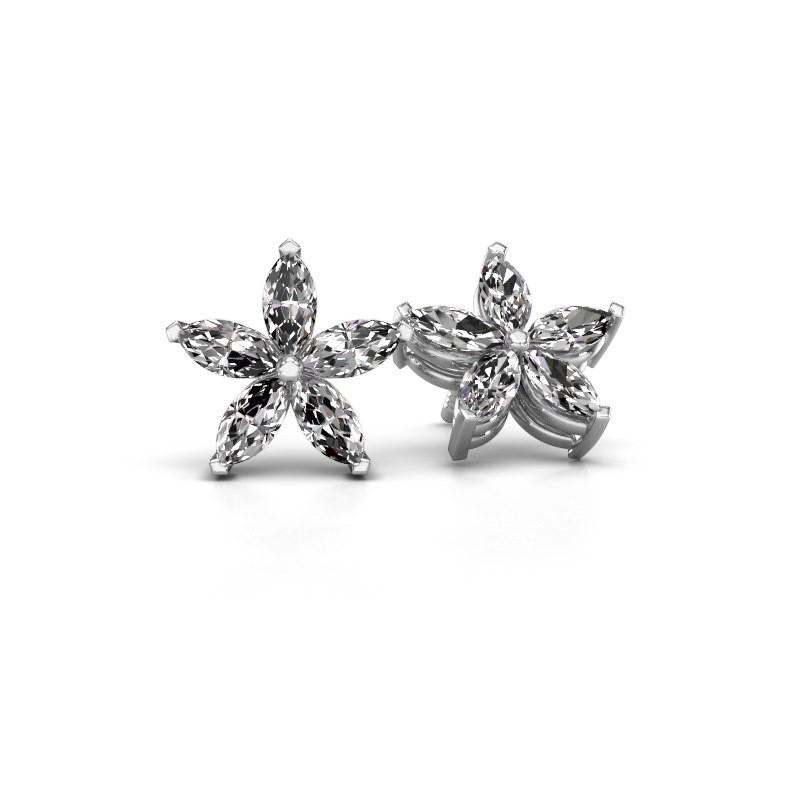 Ohrsteckers Sylvana 925 Silber Lab-grown Diamant 1.40 crt