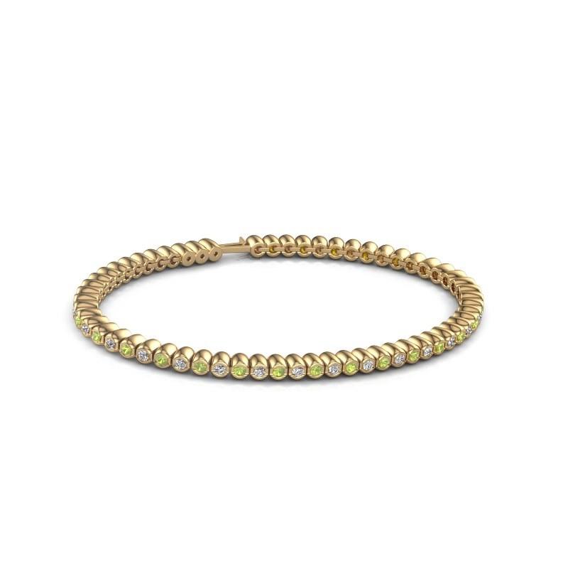Tennisarmband Trix 375 goud peridoot 2 mm