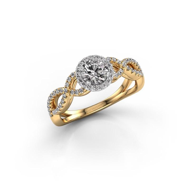 Verlovingsring Dionne rnd 585 goud diamant 0.72 crt