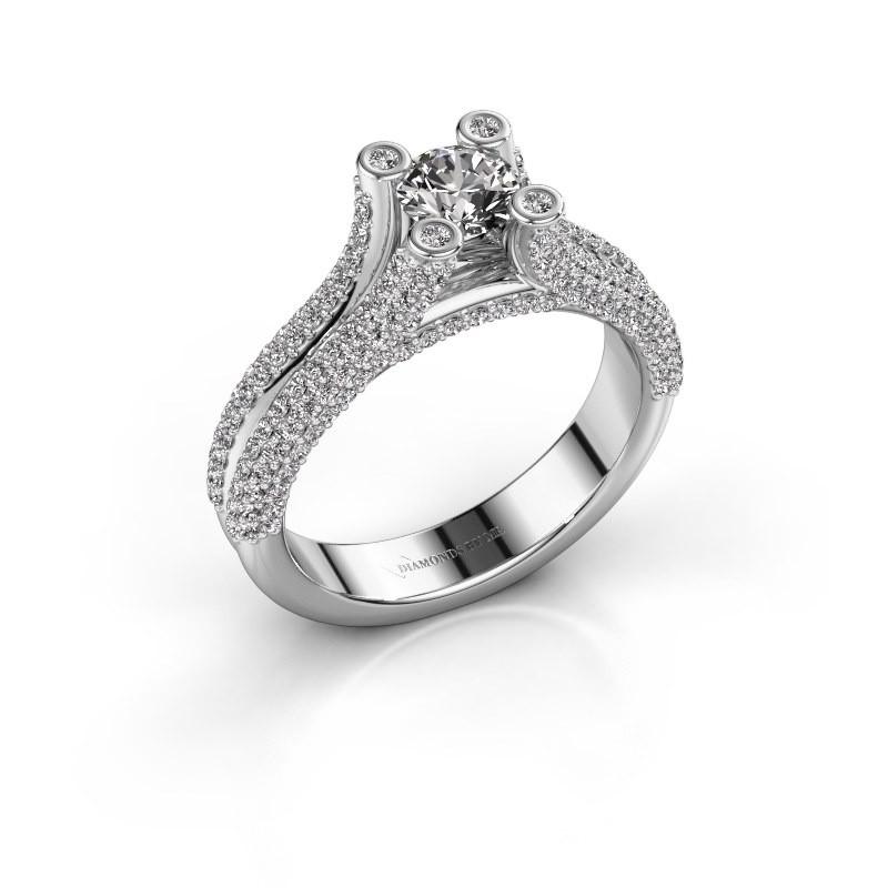 Verlovingsring Stefanie 2 585 witgoud diamant 1.50 crt