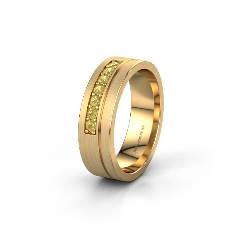 Trouwring WH0312L16AM 585 goud gele saffier ±6x1.7 mm