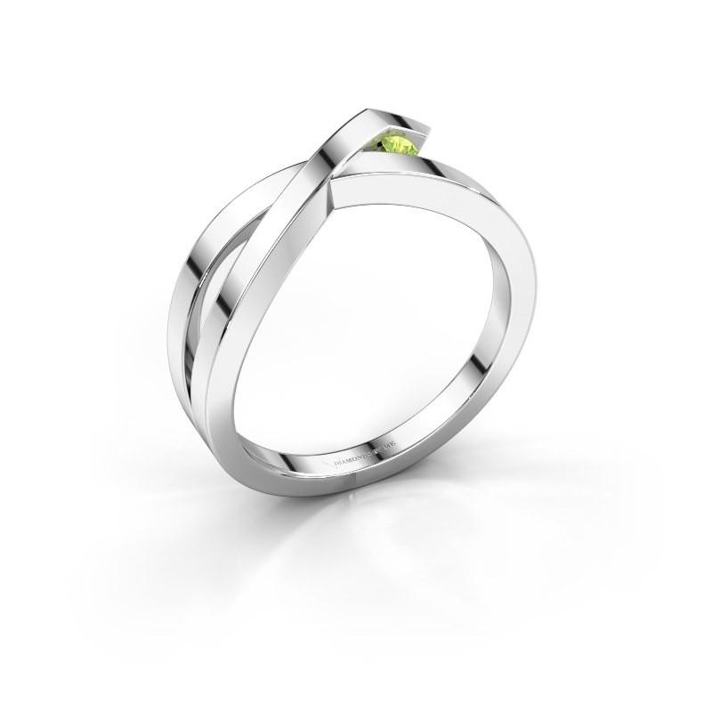 Ring Alyssa 585 white gold peridot 2 mm
