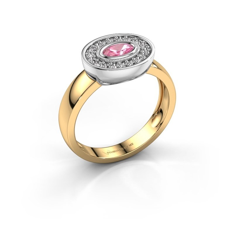 Ring Azra 585 Gold Pink Saphir 5x3 mm