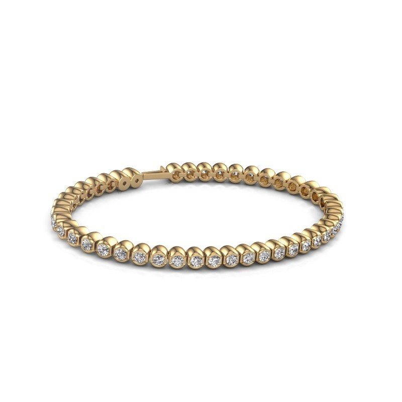Tennisarmband Asley 375 goud zirkonia 3 mm