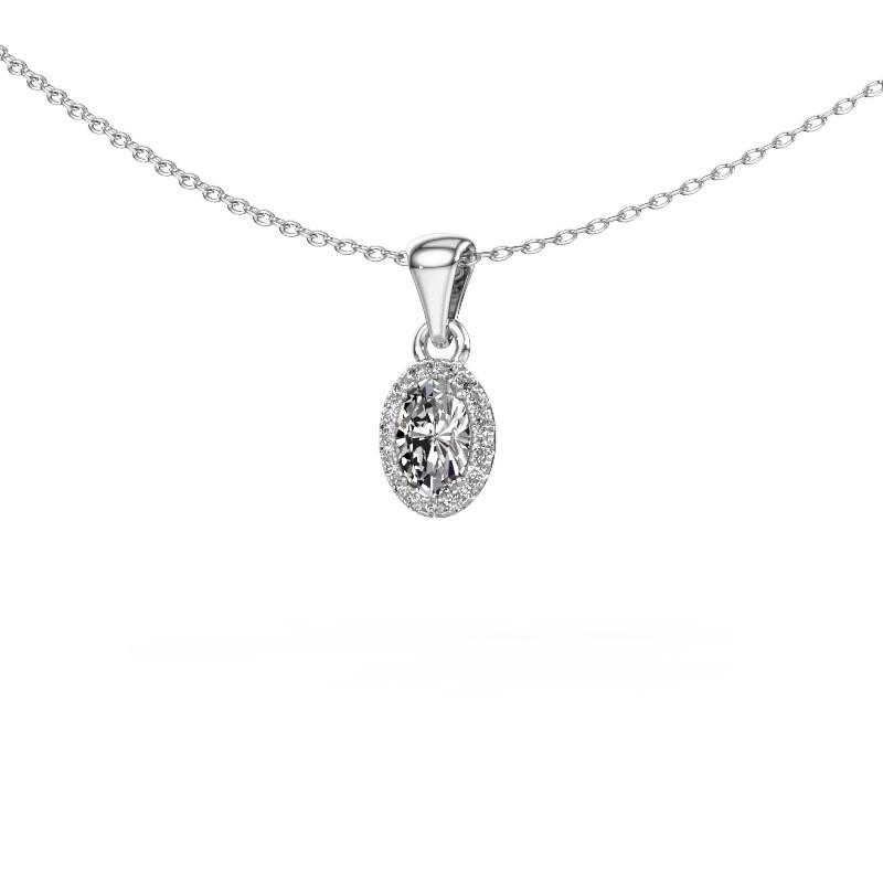 Hanger Seline ovl 375 witgoud diamant 0.59 crt