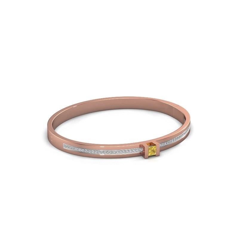 Armband Desire 585 rosé goud gele saffier 4 mm