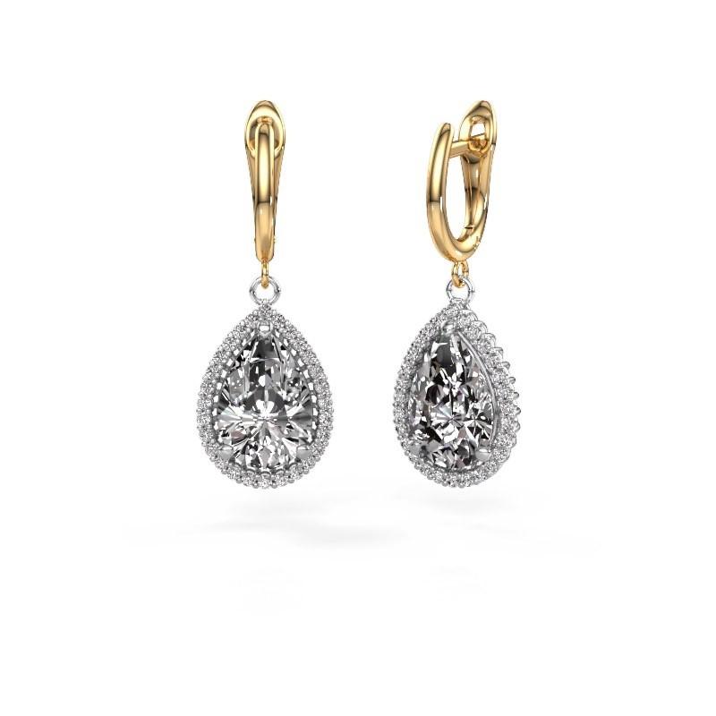 Oorhangers Tilly per 3 585 witgoud diamant 6.42 crt