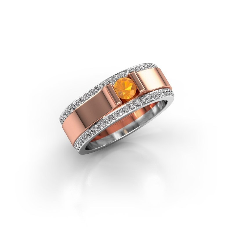 Men's ring Danillo 585 rose gold citrin 4.2 mm