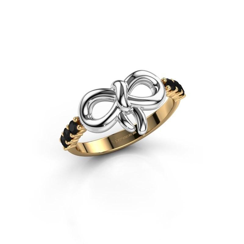 Ring Olympia 585 goud zwarte diamant 0.324 crt