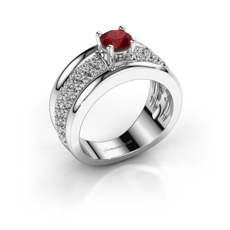 Ring Alicia 925 Silber Rubin 5 mm