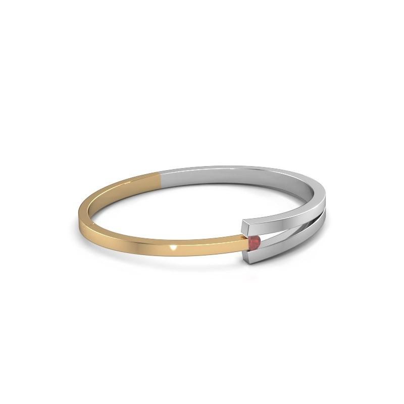 Slavenarmband Sofia 585 goud robijn 4 mm