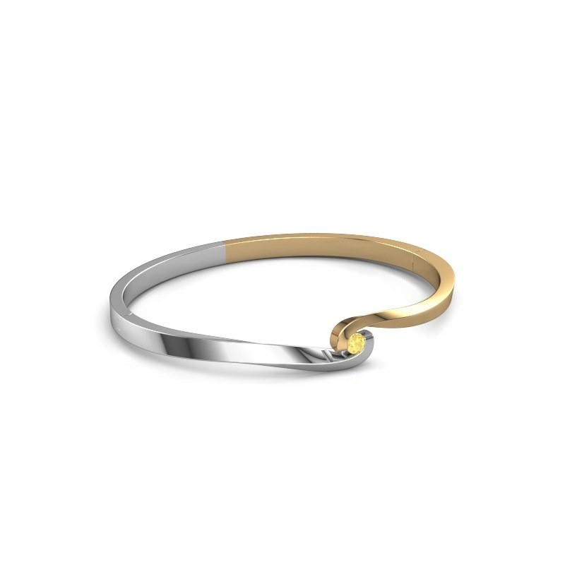 Bracelet jonc Sheryl 585 or jaune saphir jaune 3.7 mm