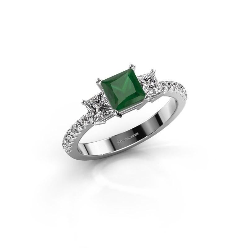 Engagement ring Dorla 585 white gold emerald 5 mm