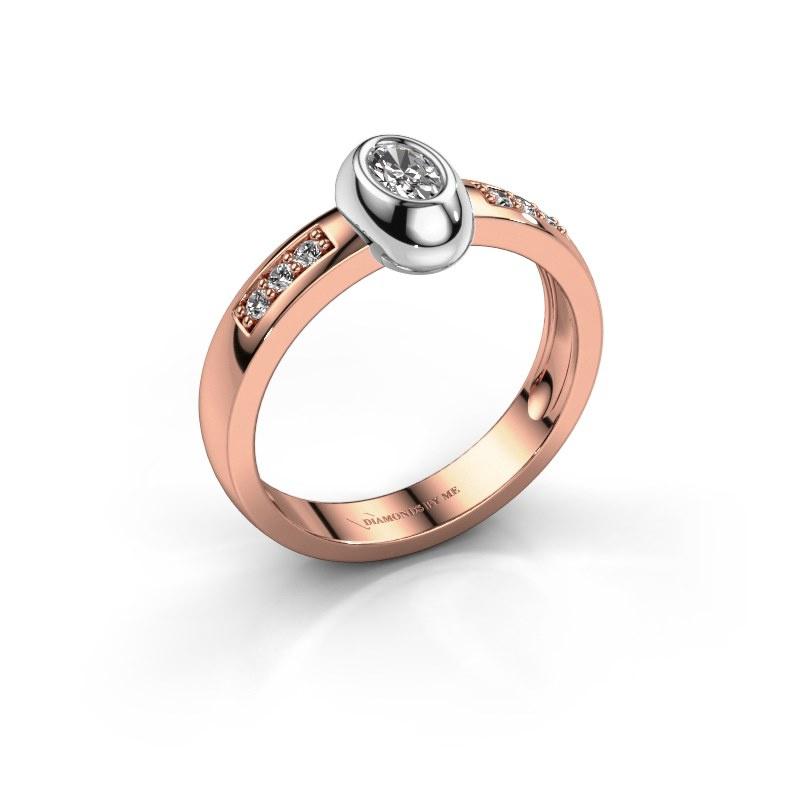 Ring Charlotte Oval 585 rose gold diamond 0.32 crt