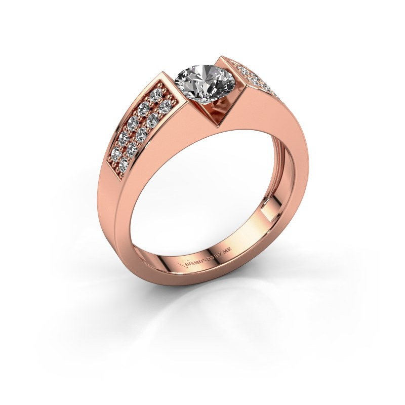 Engagement ring Lizzy 3 585 rose gold diamond 0.900 crt