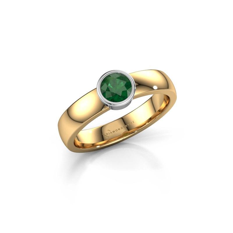 Ring Ise 1 585 goud smaragd 4.7 mm