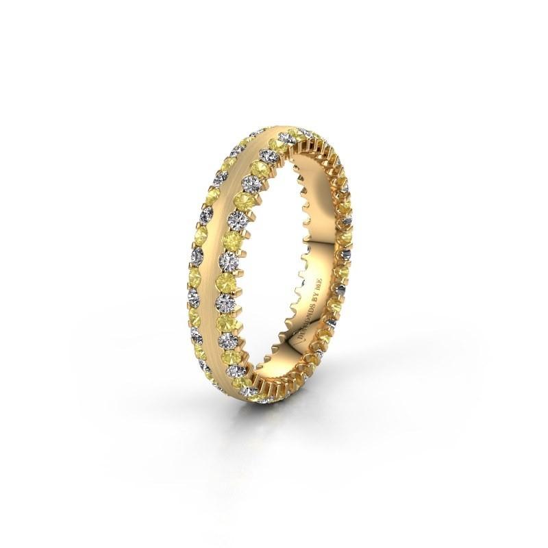 Wedding ring WH2139L24B 375 gold yellow sapphire ±4x2 mm