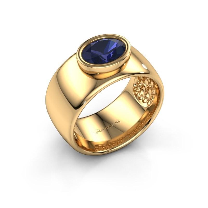 Ring Anouschka 585 goud saffier 8x6 mm