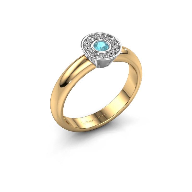Ring Fiene 585 gold blue topaz 2.8 mm