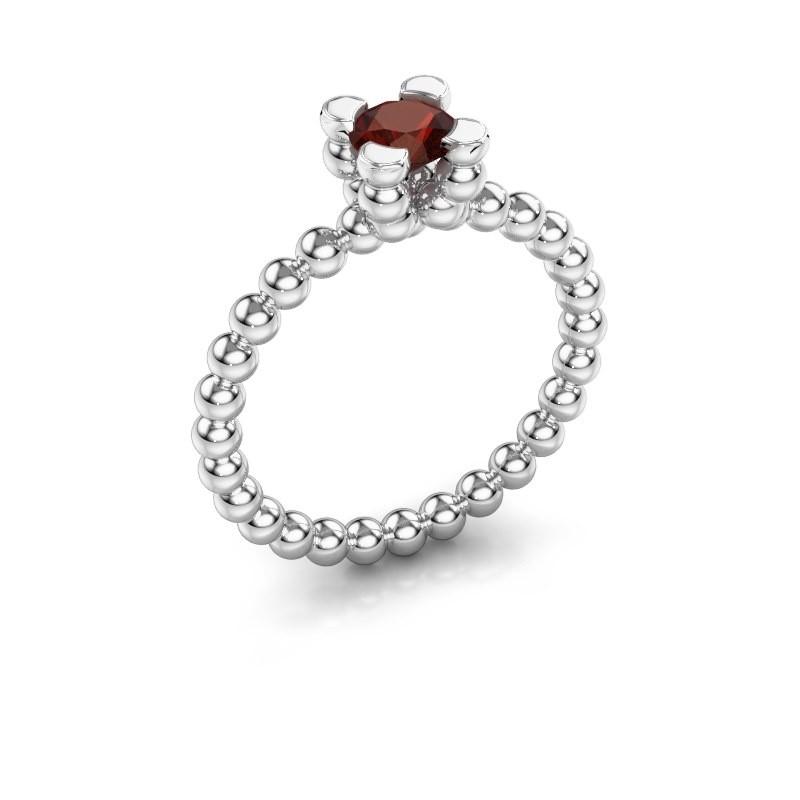 Ring Aurore 585 witgoud granaat 5 mm