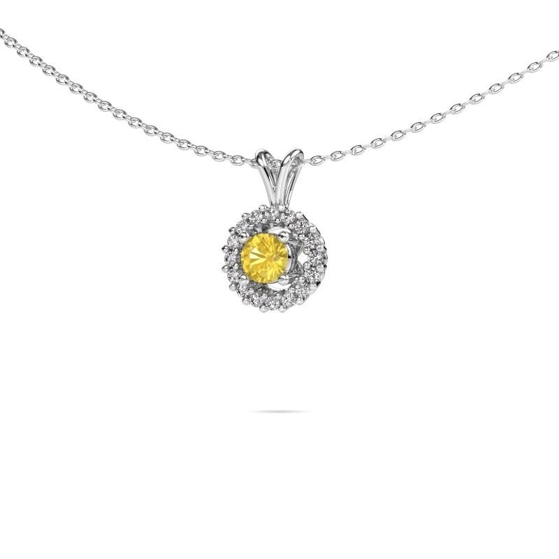 Pendant Tennille 925 silver yellow sapphire 4 mm