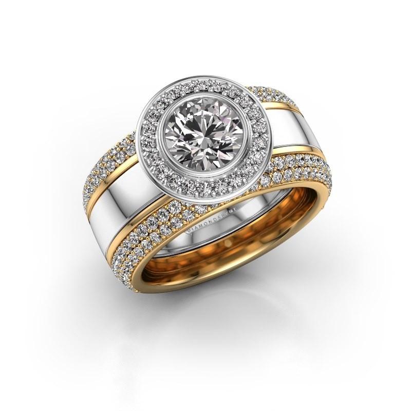 Ring Roxie 585 witgoud lab-grown diamant 2.06 crt