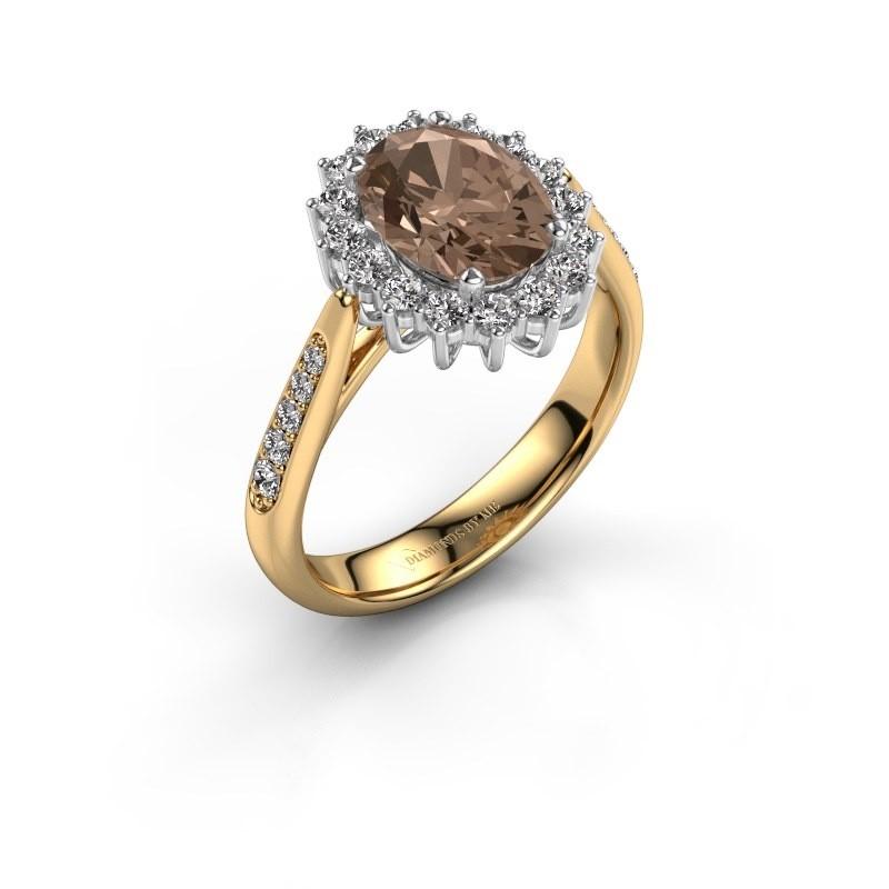 Verlovingsring Margien 2 585 goud bruine diamant 0.80 crt