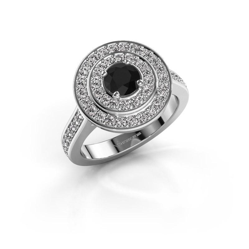 Ring Alecia 2 925 zilver zwarte diamant 1.438 crt