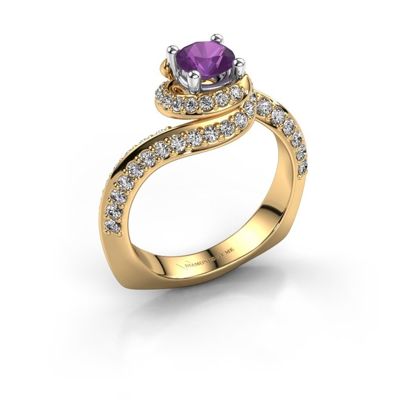 Engagement ring Sienna 585 gold amethyst 5 mm