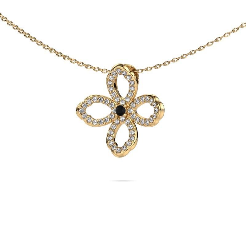Ketting Chelsea 375 goud zwarte diamant 0.316 crt