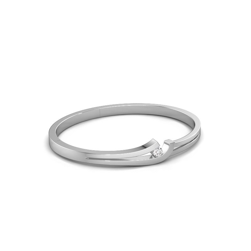 Slavenarmband Yentl 585 witgoud diamant 0.25 crt