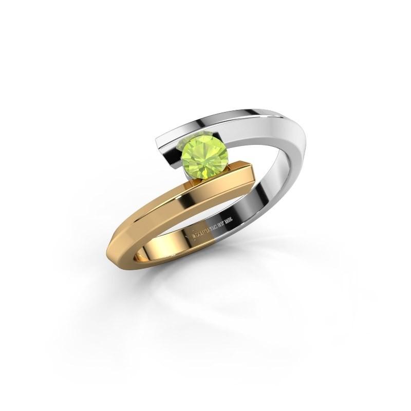 Ring Paulette 585 white gold peridot 3.4 mm