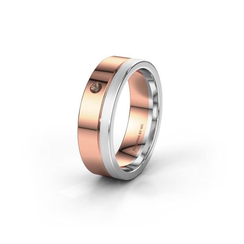 Trouwring WH0301L16APM 585 rosé goud rookkwarts ±6x1.7 mm