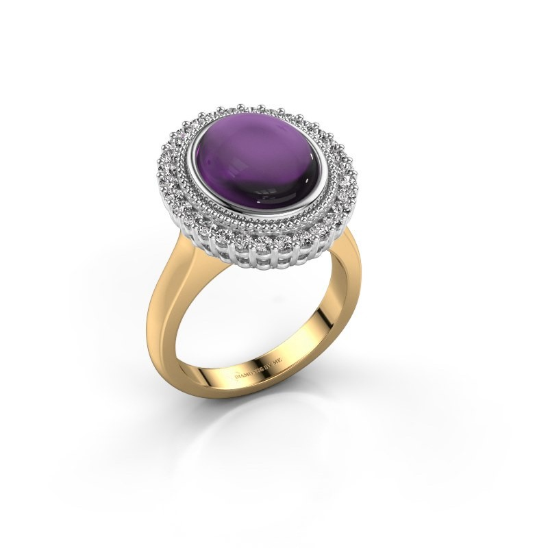 Ring Mila 585 gold amethyst 12x10 mm