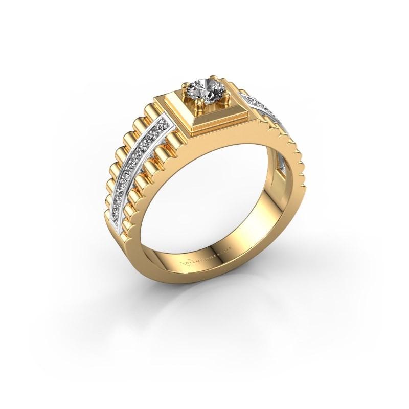 Rolex stijl ring Maikel 585 goud diamant 0.54 crt