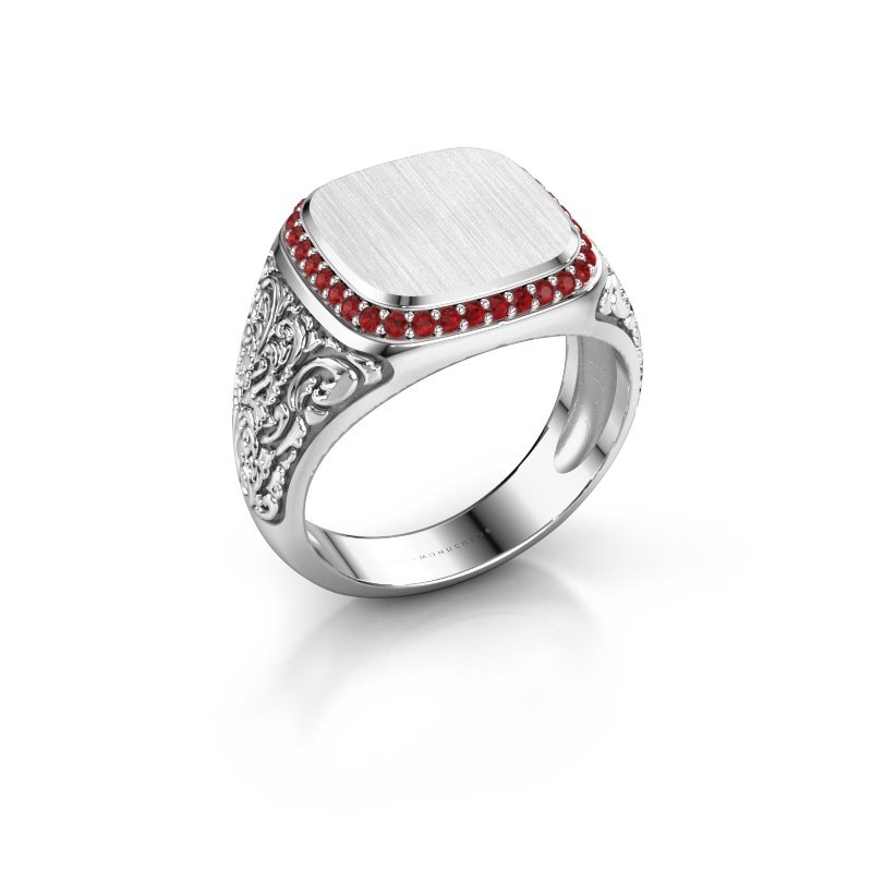 Heren ring Jesse 2 925 zilver robijn 1.2 mm