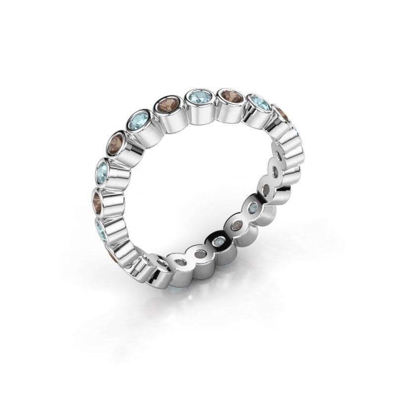 Ring Liz 585 witgoud rookkwarts 2 mm