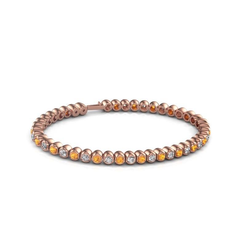 Tennisarmband Asley 375 rosé goud citrien 3 mm