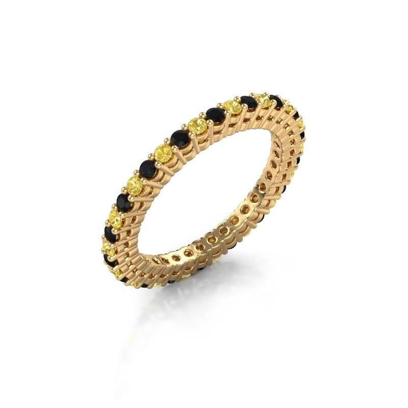 Aanschuifring Rufina 2 375 goud gele saffier 1.7 mm