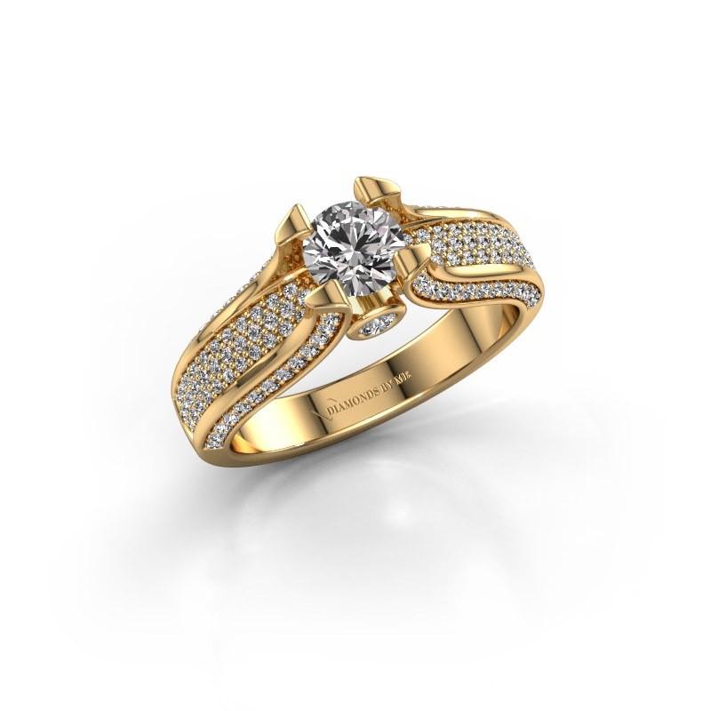 Bague de fiançailles Jeanne 2 375 or jaune diamant 1.026 crt